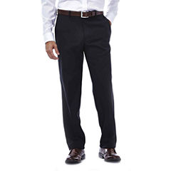 Haggar® eCLo™ Stria Straight-Fit Flat-Front Pants