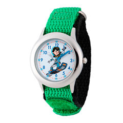 Disney Boys Green Miles From Tomorrowland Time Teacher Strap Watch W003053
