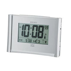 Seiko® Get Up And Glow Wave Bedside Alarm With Automatic Calendar Clock Qhr015slh