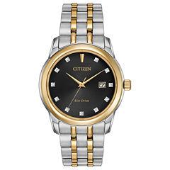 Citizen® Eco-Drive Men's Two Tone Watch With Diamond Accents Bm7344-54E