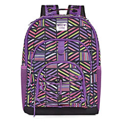 Purple Geometric Backpack