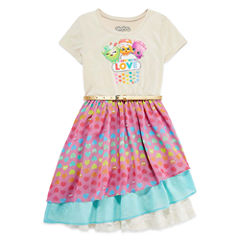 ShopkinsShort Sleeve Dress- Big Kid Girls