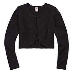 Total Girl Long Sleeve Sweater Knit Cardigan - Big Kid