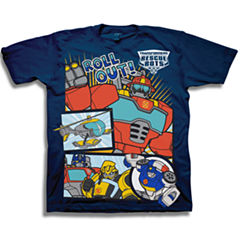 Short Sleeve Transformers T-Shirt-Toddler Boys
