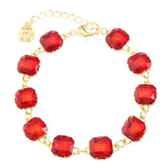 Monet Jewelry Womens Red Chain Bracelet