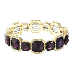 Monet Jewelry Womens Purple Stretch Bracelet
