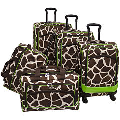 American Flyer Animal Print 5-pc. Expandable Spinner Upright Luggage Set