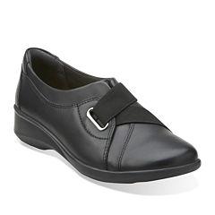 Clarks® Gael Nicole Leather Slip-On Shoes