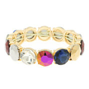 Monet® Multicolor Stone Gold-Tone Stretch Bracelet