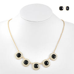 Monet Jewelry Womens 2-pc. Black Jewelry Set