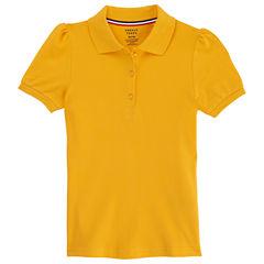French Toast Short Sleeve Knit Polo Shirt - Preschool Girls