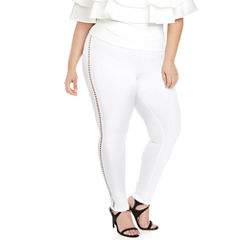 Fashion To Figure Marina High-Waist with Cutouts Pull-On Pants-Plus