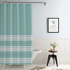 Pacific Coast Textiles Waterproof Racer Stripe Printed Shower Curtain