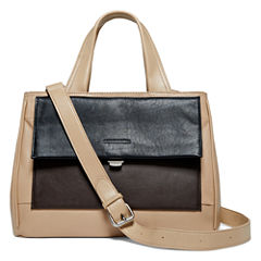Perlina Audrey Leather Colorblock Mini Tote