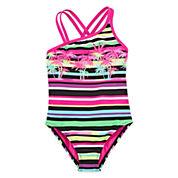 Breaking Waves Island Stripe One-Piece Swimsuit - Girls 4-16