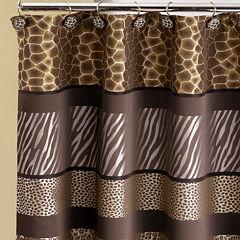 Safari Stripe Shower Curtain