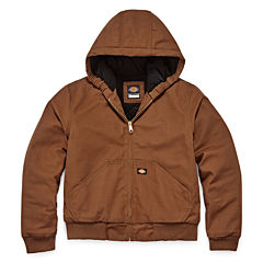 Dickies® Sanded Duck Hooded Zip Jacket - Boys 8-20