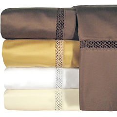Veratex 800tc  Cotton Sateen Embroidered Prince Sheet Set