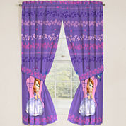 Disney Sofia the First Graceful 2-Pack Rod-Pocket Curtain Panels
