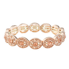 Monet Jewelry Womens Pink Stretch Bracelet