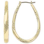 Monet® Gold-Tone Large Oval Hoop Earrings