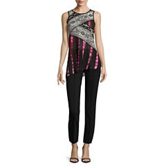 nicole by Nicole Miller® Sleeveless Mix Print Top or Ankle Pants