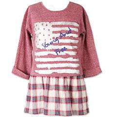 Speechless 3/4 Sleeve Layered Top - Big Kid Girls