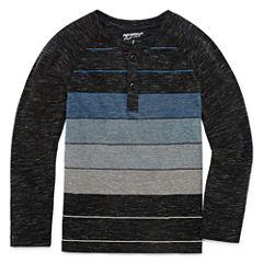 Arizona Long Sleeve Crew Neck T-Shirt-Preschool Boys