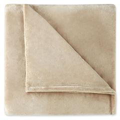 JCPenney Home™ Velvet Plush Solid Blanket