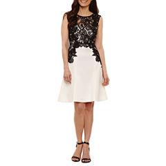 Melrose Sleeveless Fit & Flare Dress-Petites