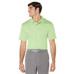 PGA TOUR Short Sleeve Solid Jersey Polo Shirt