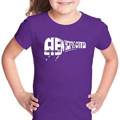 Los Angeles Pop Art Ny Subway Short Sleeve Graphic T-Shirt Girls