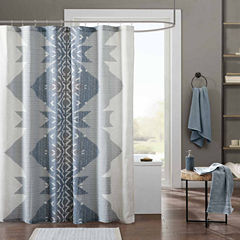 INK+IVY Nova Cotton Shower Curtain