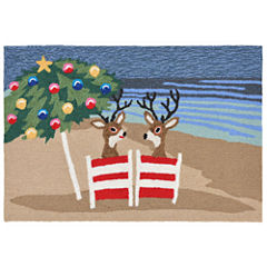 Liora Manne Frontporch Coastal Christmas Hand Tufted Rectangular Rugs