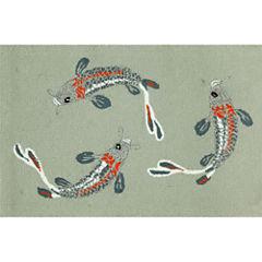 Liora Manne Frontporch Koi Fish Hand Tufted Rectangular Rugs