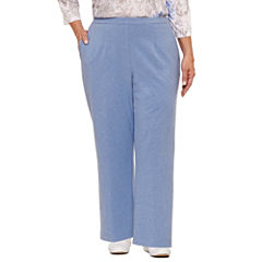 Alfred Dunner Long Weekend Woven Pull-On Pants-Plus