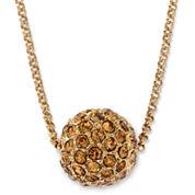 Monet® Gold-Tone Fireball Pendant Necklace
