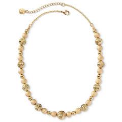 Monet® Gold-Tone Beaded Collar Necklace