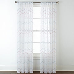 Home Expressions™ Lexi Chevron Rod-Pocket Sheer Panel