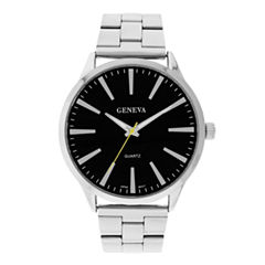 Mens Geneva Silver-Tone Round Dial Watch 33570