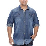 i jeans by Buffalo Long-Sleeve Milo Denim Shirt - Big & Tall