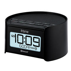 iHome® iBT230BC Bluetooth Bedside Dual Alarm Clock Radio with Speakerphone and USB Charging