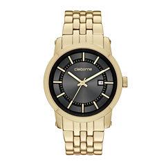 Claiborne® Mens Gold-Tone Watch