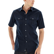Claiborne® Short-Sleeve Stretch Poplin Shirt
