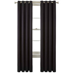 Liz Claiborne® Kathryn Brights Room-Darkening Grommet-Top Curtain Panel