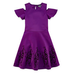 Cold Shoulder Descendants A-Line Dress - Big Kid Girls
