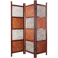 Oriental Furniture 6 Bamboo  Leaf Room Divider