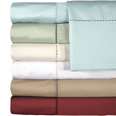 American Heritage 500tc Set of 2  Cotton Sateen Embroidered Pillowcases