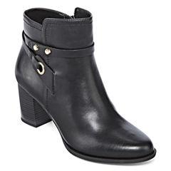 Liz Claiborne® Babin Heeled Ankle Booties - Wide