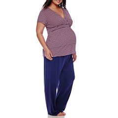 Sleep Chic Maternity Short-Sleeve Pajama Set - Plus